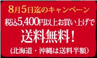 5,400円以上お買い上げで送料無料!